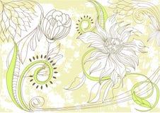 Rétro fond floral stylisé illustration libre de droits