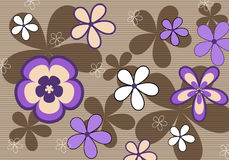 Rétro fond floral violet Photos stock