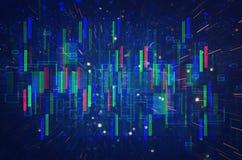 Rétro fond futuriste du rétro style de 80 ` s Digital ou surface de Cyber lampes au néon et modèle géométrique illustration stock