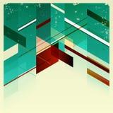Rétro fond géométrique abstrait. Images stock