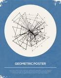 Rétro fond géométrique abstrait. Photographie stock