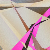 Rétro fond géométrique avec les triangles colorées Image stock
