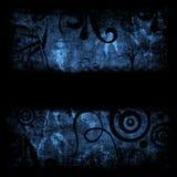 Rétro fond grunge bleu Image libre de droits