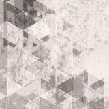 Rétro fond grunge de technologie Modèle de triangles Images libres de droits