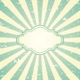 Rétro fond grunge fané de lumière du soleil avec le cadre de vintage pour le texte Photographie stock libre de droits