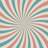 Rétro fond grunge fané de lumière du soleil fond d'éclat de couleur bleue et rouge illustration stock