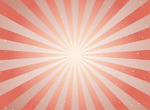 Rétro fond grunge fané de lumière du soleil fond rouge et beige d'éclat de couleur illustration stock