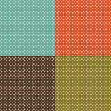 Rétro fond réglé avec les points de polka blancs illustration stock