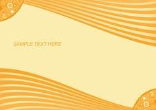 Rétro fond rayé orange Image libre de droits