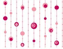 Rétro fond rose de cercles Images stock