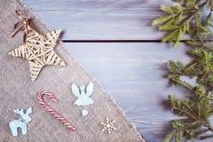 Rétro fond stylisé de Noël Image stock