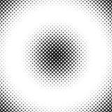 Rétro fond tramé abstrait de modèle de point des cercles Images stock