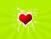 Rétro fond vert Images libres de droits