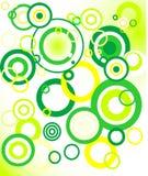 rétro fond vert (cercle) Photo stock