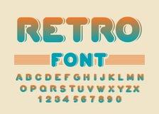 Rétro fonte Alphabet arrondi par vintage Alphabet de disco Marque avec des lettres le franc Photographie stock libre de droits