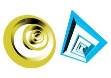 rétro formes 3d illustration libre de droits