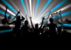 Rétro foule de concert Photos libres de droits