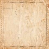 Rétro frontière de vintage sur le vieux fond de papier illustration de vecteur