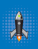 Rétro fusée de vecteur. Image libre de droits