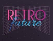 Rétro future icône de label illustration libre de droits