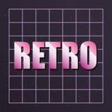 Rétro future icône de label illustration stock
