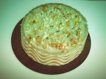 Rétro gâteau de tarte de regard Image stock