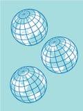Rétro globes Photo libre de droits