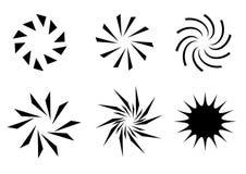 Rétro graphismes du soleil Images stock