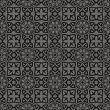 Rétro Grey Pattern sans couture décoratif Images stock
