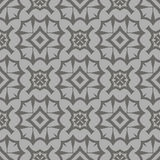Rétro Grey Seamless Pattern décoratif Images libres de droits