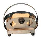 Rétro grille-pain avec du pain image libre de droits