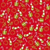 Rétro guirlande et bas de Noël de type de cru Photos stock