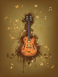 Rétro guitare électrique Photos libres de droits