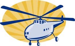 Rétro hélicoptère ou découpeur de type illustration de vecteur