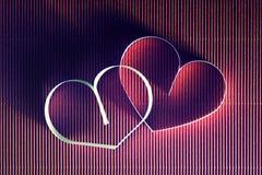 Rétro heureux des textes de forme de coeur Photo libre de droits