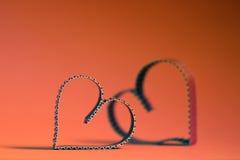 Rétro heureux des textes de forme de coeur Photo stock