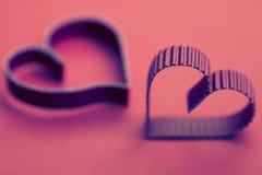 Rétro heureux des textes de forme de coeur Photos libres de droits