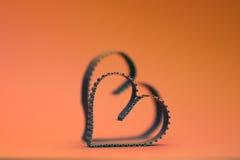 Rétro heureux des textes de forme de coeur Image libre de droits
