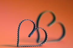 Rétro heureux des textes de forme de coeur Photographie stock libre de droits