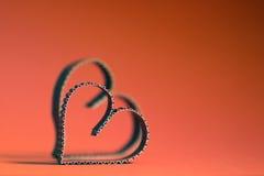 Rétro heureux des textes de forme de coeur Photos stock