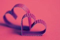 Rétro heureux des textes de forme de coeur Images libres de droits
