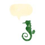 rétro hippocampe de bande dessinée Photographie stock libre de droits