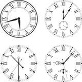 Rétro horloge avec Roman Dial Photographie stock libre de droits