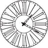 Rétro horloge avec Roman Dial Image stock