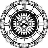 Rétro horloge avec Roman Dial Image libre de droits