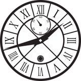 Rétro horloge avec Roman Dial Photos libres de droits