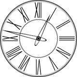 Rétro horloge avec Roman Dial Photo stock