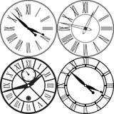 Rétro horloge avec Roman Dial Images stock