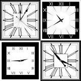 Rétro horloge avec Roman Dial Photographie stock