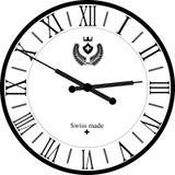 Rétro horloge avec Roman Dial Photo libre de droits